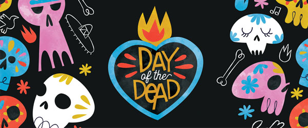 Day of the Dead Heart Halloween PVC Party Sign Decoration 60cm x 25cm Product Image