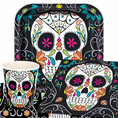 Day Of The Dead Skull 8 Person Value Party Pack