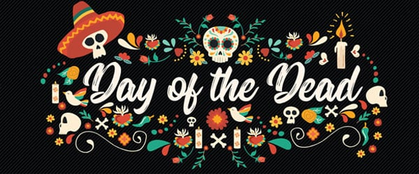 Day of the Dead Sombrero Halloween PVC Party Sign Decoration 60cm x 25cm Product Image
