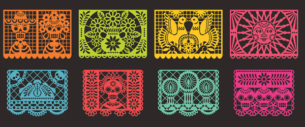 Day of the Dead Stencils Print Halloween PVC Party Sign Decoration 60cm x 25cm Product Image