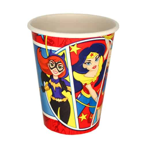 DC Super Hero Girls Paper Cups 266ml - Pack of 8