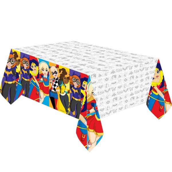 DC Super Hero Girls Plastic Tablecover 243cm x 137cm