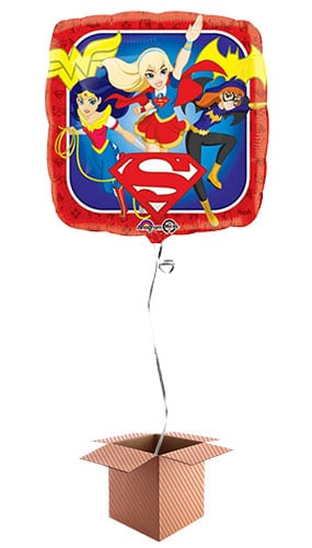 DC Super Hero Girls Square Foil Balloon - Inflated Balloon in a Box