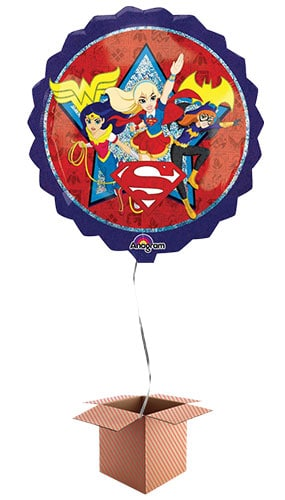 DC Super Hero Girls Helium Foil Giant Balloon - Inflated Balloon in a Box Product Image