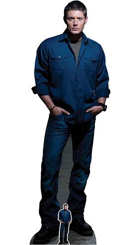 Dean Winchester Blue Shirt Jeans Jensen Ackles Supernatural Lifesize Cardboard Cutout 186cm Product Image