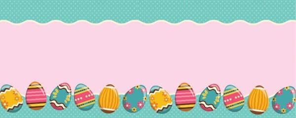 Decorative Easter Eggs Design Small Personalised Banner - 4ft x 2ft