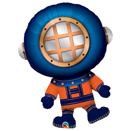 Deep Sea Diver Helium Foil Giant Qualatex Balloon 94cm / 37 in Product Image