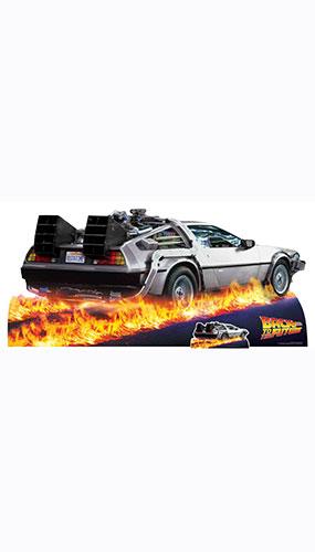 DeLorean Car Back to The Future Lifesize Cardboard Cutout 195cm Product Image