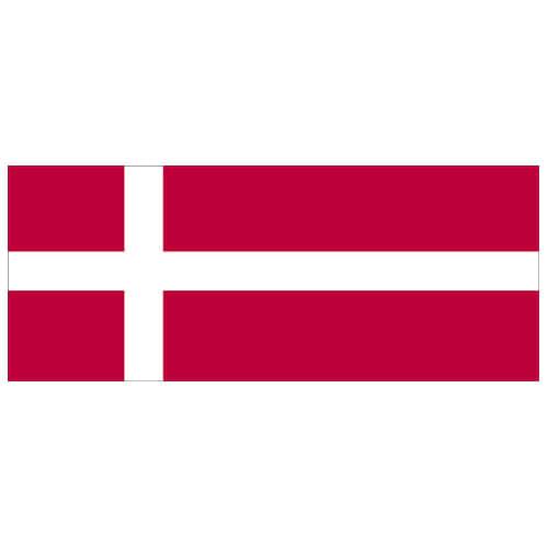 Denmark Flag PVC Party Sign Decoration 60cm x 24cm