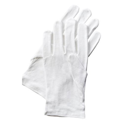 Dermatological White Cotton Gloves - Pack of 2 Product Image