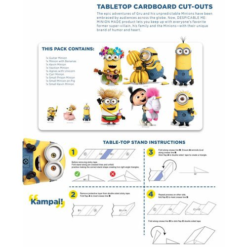 Despicable Me Minions Table Top Cutout Decorations - Pack of 9 Product Gallery Image