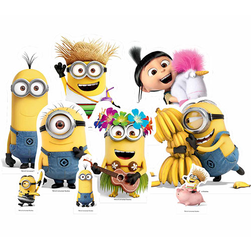 Despicable Me Minions Table Top Cutout Decorations - Pack of 9