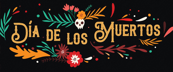 Dia de los Muertos Colourful Branches Halloween PVC Party Sign Decoration 60cm x 25cm Product Image