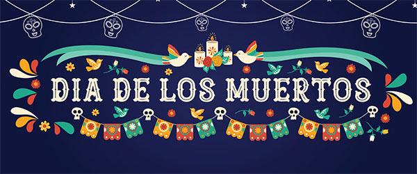 Dia de los Muertos Hanging Skulls Halloween PVC Party Sign Decoration 60cm x 25cm Product Image