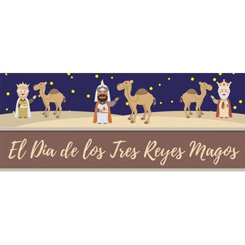 Dia De Los Reyes Camel PVC Party Sign Decoration 60cm x 25cm Product Image