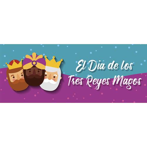Dia De Los Reyes Crowns PVC Party Sign Decoration 60cm x 25cm Product Image