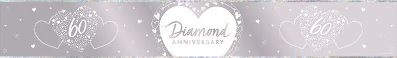 Diamond Anniversary Foil Banner 274cm Product Image