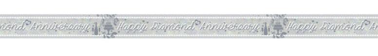 Diamond Anniversary Holographic Foil Banner 270cm