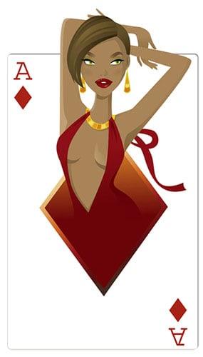 Diamonds Babe Casino Cardboard Cutout - 160cm
