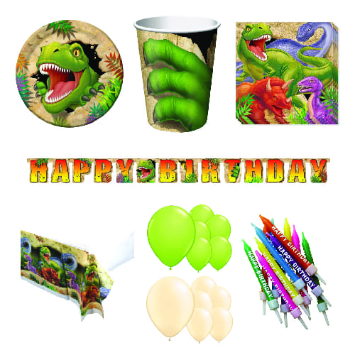 Dino Blast 16 Person Deluxe Party Pack