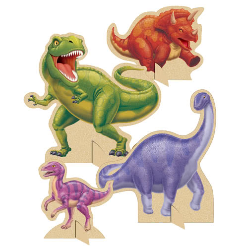 Dino Blast Dinosaur Table Centrepiece Decorations - Pack of 4 Product Image
