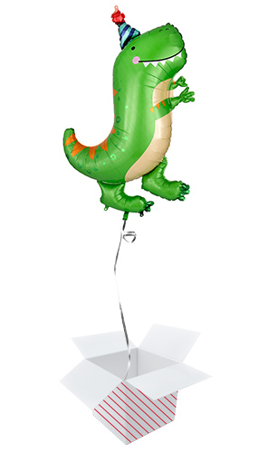 Dino-Mite Party Dinosaur Helium Foil Giant Balloon - Inflated Balloon in a Box Product Image