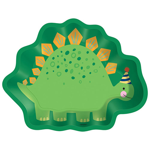 Dino-Mite Party Dinosaur Shaped Paper Plates 23cm - Pack of 8