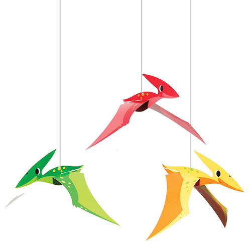 Dino Party Boy 3D Hanging String Decorations 43cm - Pack of 3 Product Image