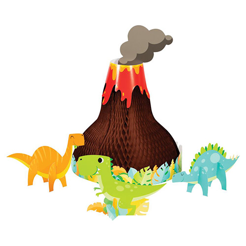 Dino Party Boy Honeycomb Centrepiece Table Decoration Kit Product Image