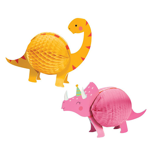 Dino Party Girl Honeycomb Centrepiece Table Decoration Kit
