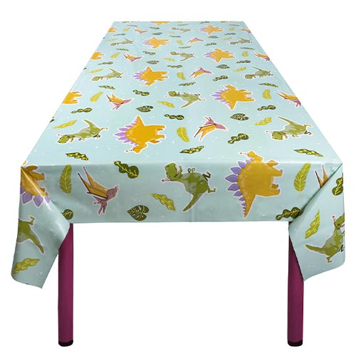 Dinosaur Fun Party Plastic Tablecover 180cm x 130cm Product Image