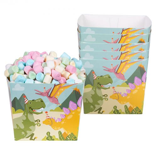 Dinosaur Fun Party Paper Bowls - Pack of 6