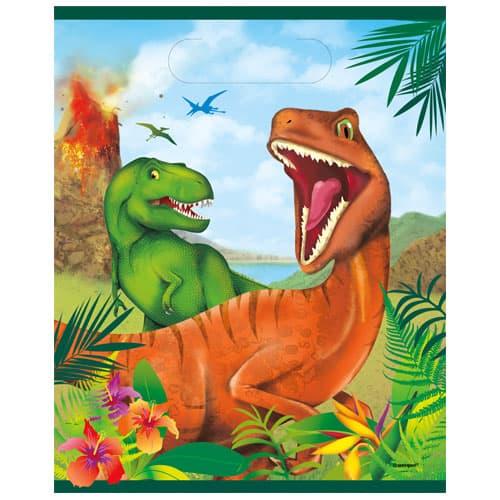 Dinosaur Fun Loot Bags - Pack of 8