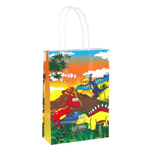Dinosaur Paper Bag With Handles 21cm