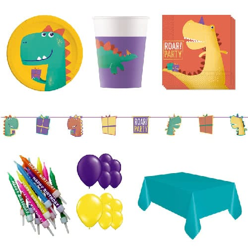 Dinosaur Roar 16 Person Deluxe Party Pack