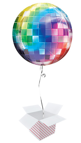 Disco Ball Orbz Foil Helium Balloon - Inflated Balloon in a Box Product Image