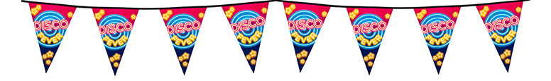 Disco Fever Plastic Pennant Bunting 6m Bundle Product Image