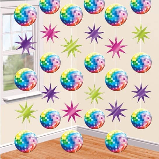 Disco Party String Decorations - 2.1m - Pack of 6 Product Image