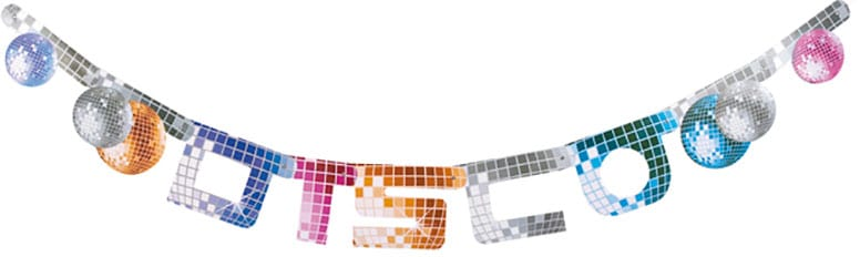Disco Themed Banner Garland - 71 Inches / 180cm