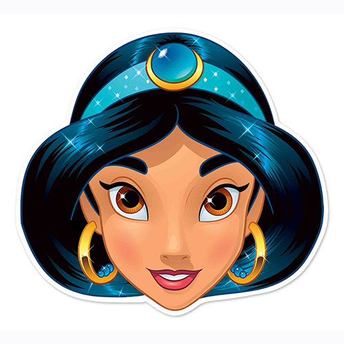 Disney Aladdin Jasmine Cardboard Face Mask for Children