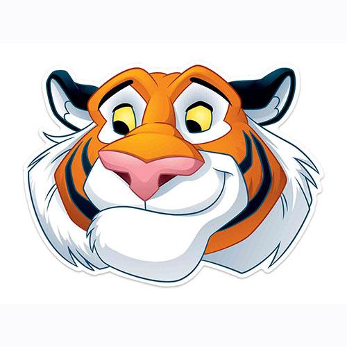 Disney Aladdin Rajah Tiger Cardboard Face Mask for Children Product Image