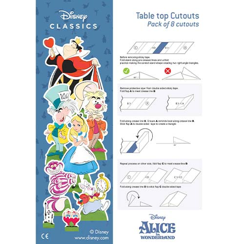 Disney Alice in Wonderland Table Top Cutout Decorations - Pack of 8 Product Gallery Image