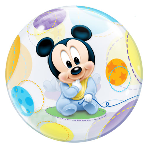 Disney Baby Mickey Mouse Bubble Helium Qualatex Balloon 56cm / 22 in Product Image