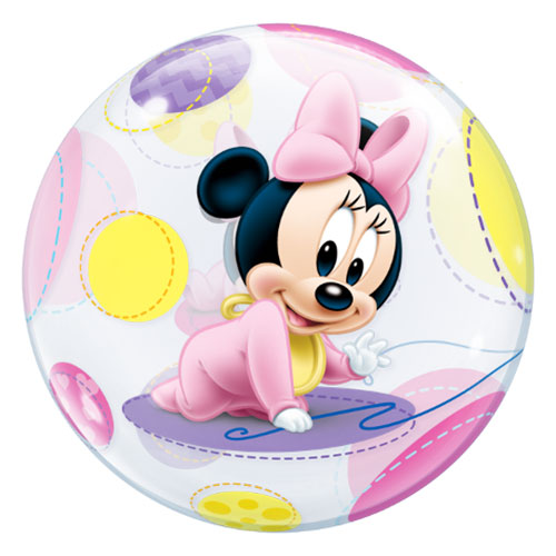 Disney Baby Minnie Mouse Bubble Helium Qualatex Balloon 56cm / 22 in Product Image