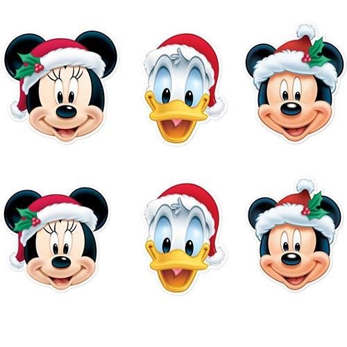 Disney Christmas Cardboard Face Masks - Pack of 6 Product Image