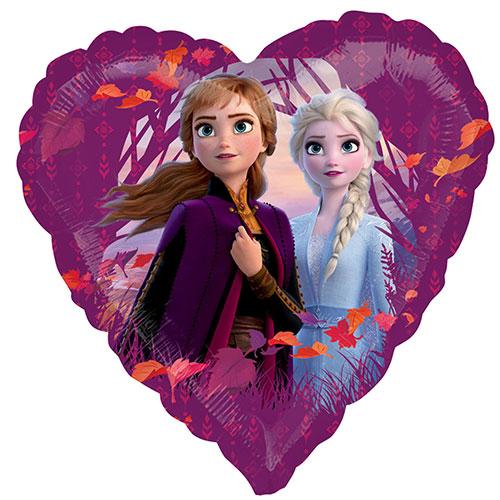 Disney Frozen 2 Heart Shape Foil Helium Balloon 43cm / 17 in Product Image