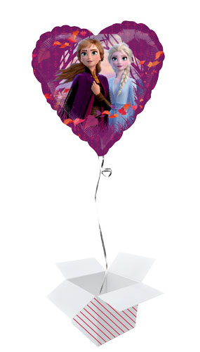 Disney Frozen 2 Heart Shape Foil Helium Balloon - Inflated Balloon in a Box Product Image