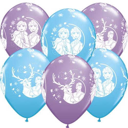 Disney Frozen 2 Assorted Latex Helium Qualatex Balloons 30cm / 12 in - Pack of 6