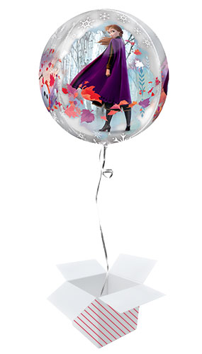 Disney Frozen 2 Orbz Foil Helium Balloon - Inflated Balloon in a Box Product Gallery Image