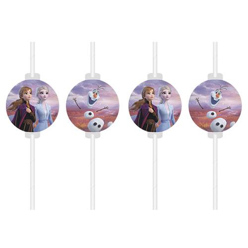 Disney Frozen 2 Paper Drinking Straws - Pack of 4